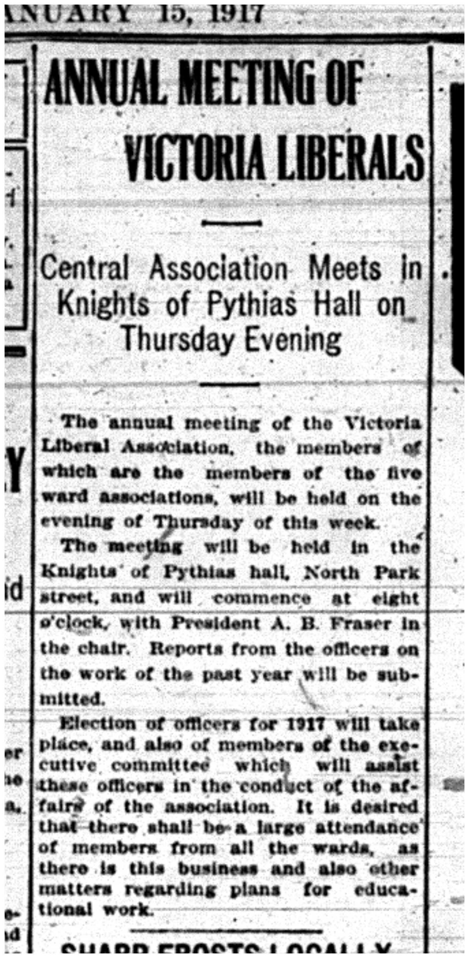 """""""Annual Meeting of Victoria Liberals"""""""
