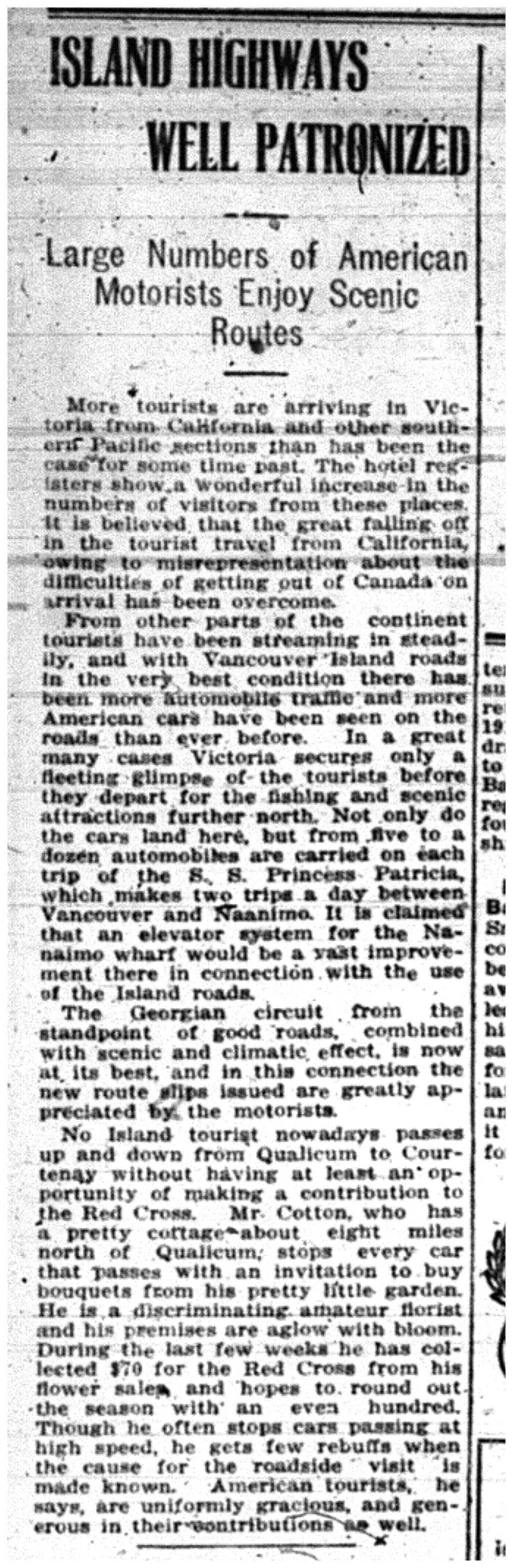 """Island Highways Well Patronized"""