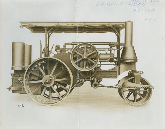 Gasoline Road Roller illustration