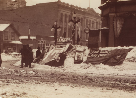 Fort Street During After the Snow Storm of 1916