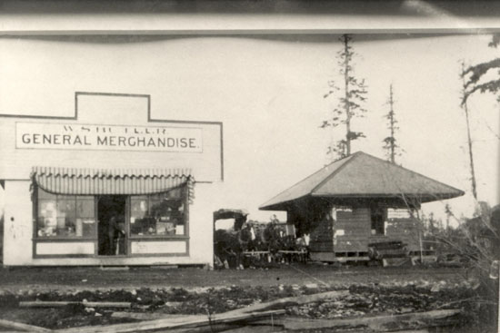W.S. Butler's General Merchandise and V&S Station at Keating