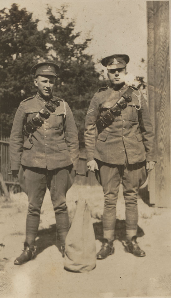 Gunner George McMorran and Sergeant Colton at Signal Hill