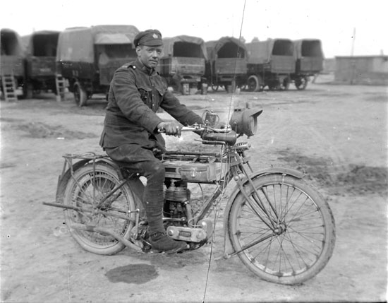 Soldier on Motorcyle
