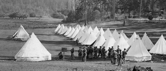 Tents at Heals Rifle Range