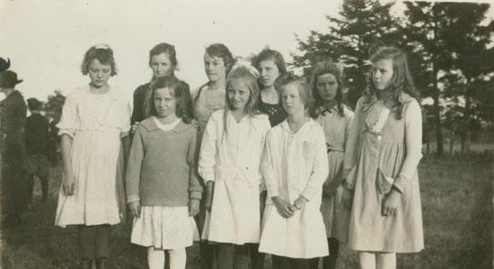 Girls from Gordon Head School at the Saanich Fair