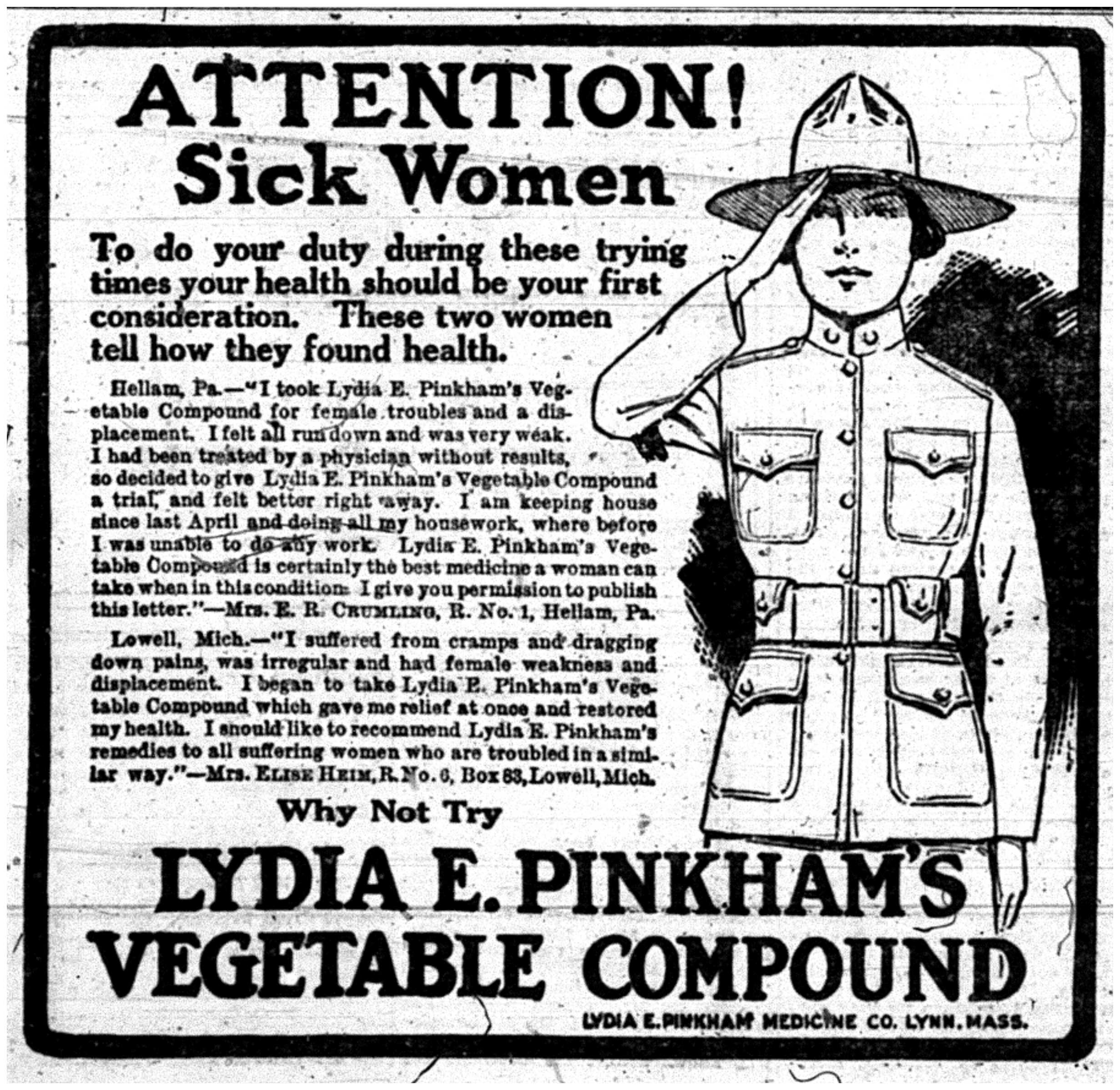 """ATTENTION! Sick Women"""