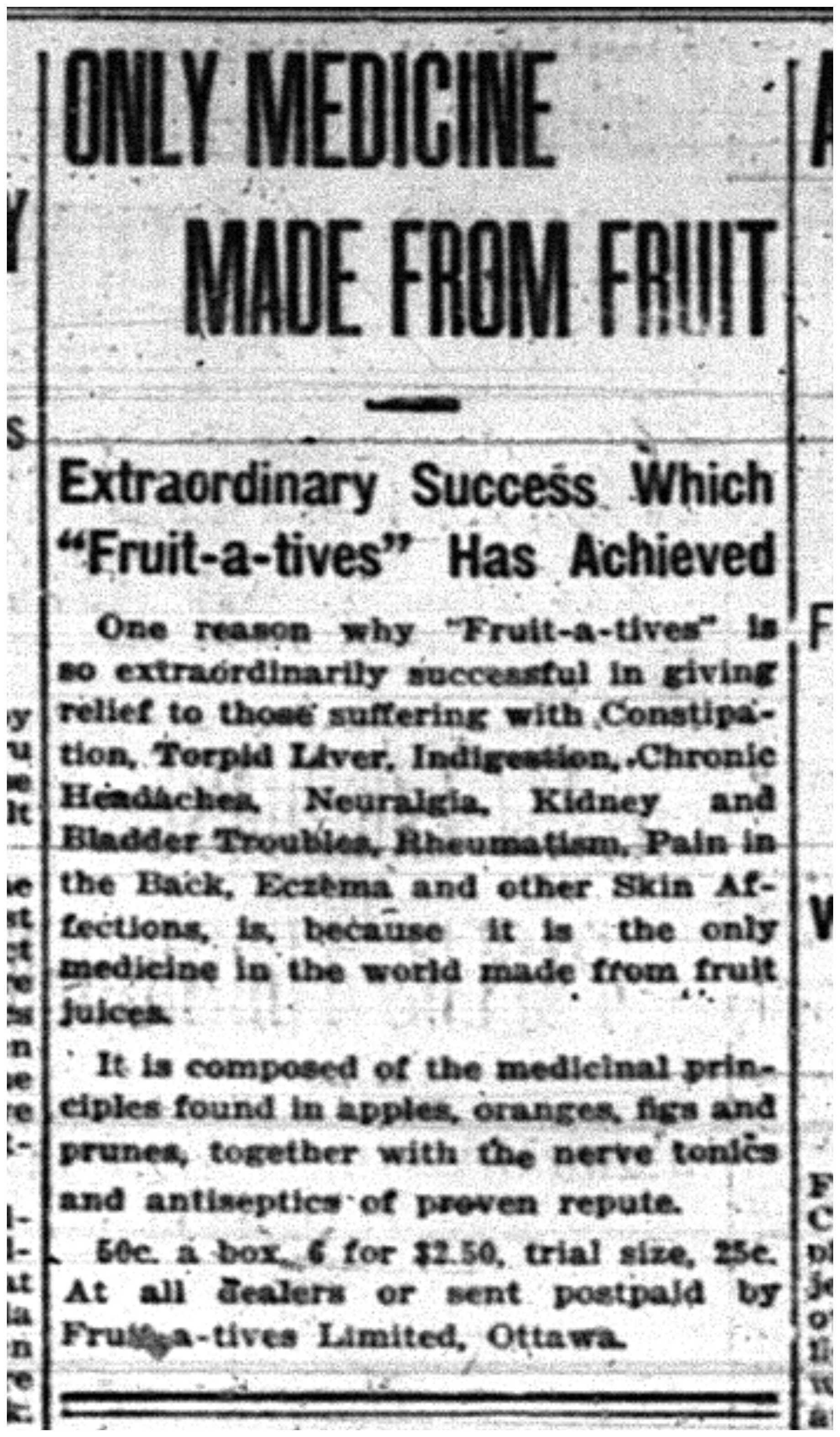 """""Only Medicine Made From Fruit"""