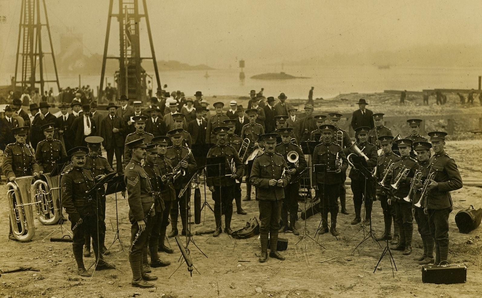 Band at the Docks
