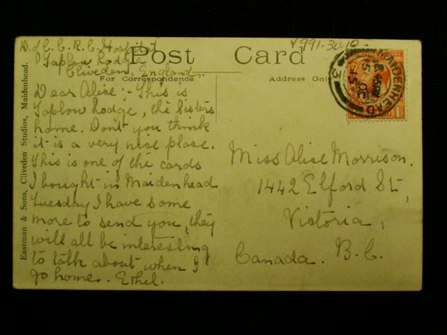 Ethel Morrison Postcard