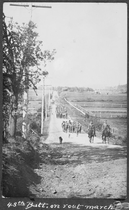 48th Battalion out on a march