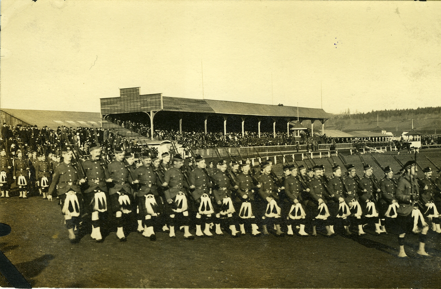 The Highlanders on Parade