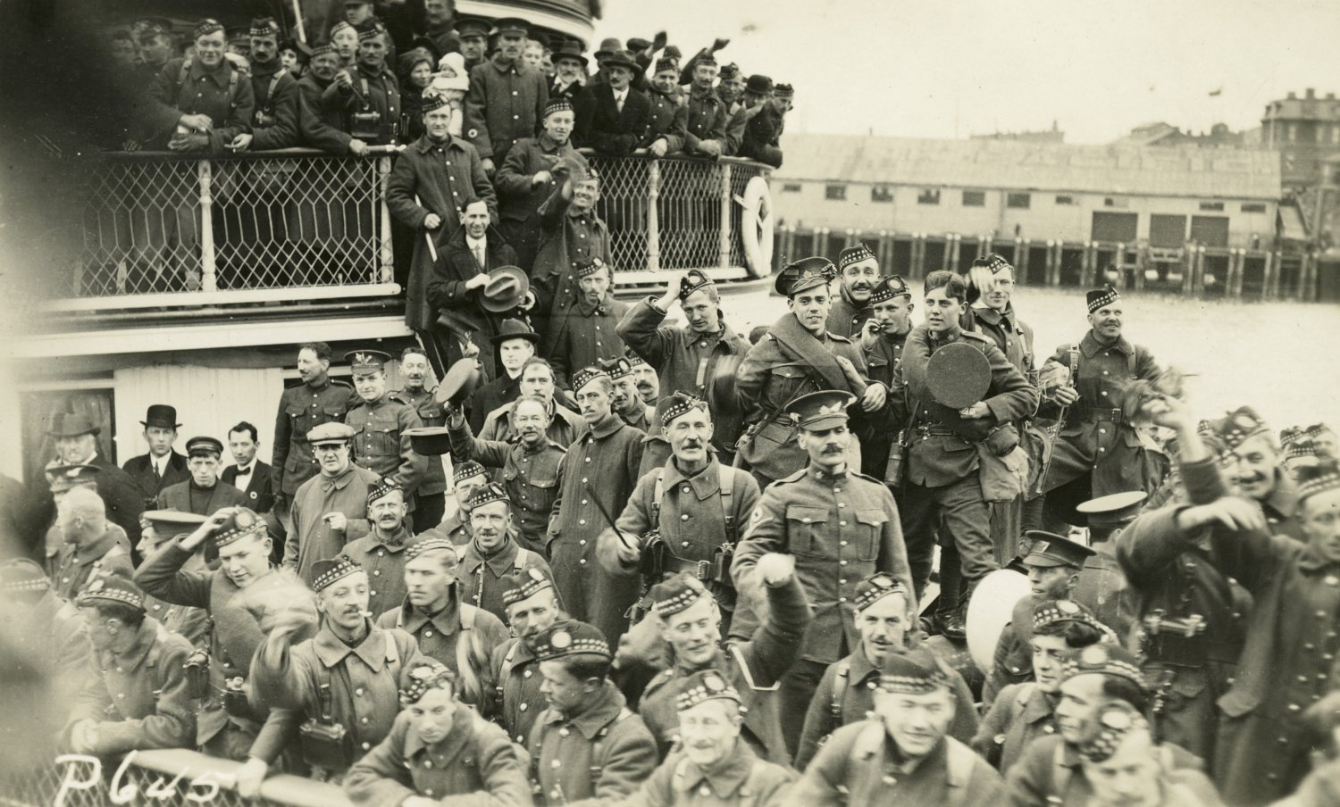 The Gordon Highlanders depart