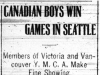 """Canadian Boys Win Games in Seattle"""