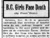 """B.C. Girls Face Death"""