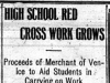 """High School Red Cross Work Grows"""