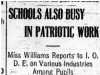 """Schools also Busy in Patriotic Work"" Work in Schools"