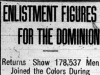 """Enlistment Figures for the Dominion"""