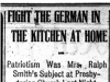 """Fight the German in the Kitchen at Home"""