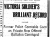 """Victoria Soldier's Brilliant Record"""