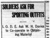 """Soldiers Ask for Sporting Outfits"""