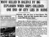 """Many Killed in Halifax by Bomb Explosion When Ships Collided"""