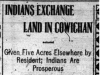"""Indians Exchange Land in Cowichan"""