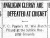 """Anglican Clergy are Defeated at Cricket"""