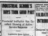 """""Industrial School's Boys Took Good Part"" & ""Validating Bill is Introduced to House"""