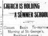 """Church is Holding A Summer School"""