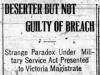 """Deserter But Not Guilty of Breach"""