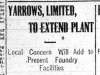 """""""Yarrows Limited to Extend Plant"""""""