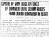 """""""Capture of Vimy Ridge by Forces of Dominion Drove German Troops From Ground Dominated by Height"""""""