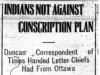 """""""Indians Not Against Conscription Plan"""""""