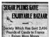 """Sugar Plums Gave Enjoyable Bazaar"""