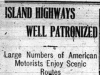 """Island Highways Well Patronized"""