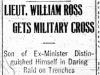 """""""Lieut. William Ross Gets Military Cross"""""""