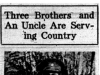 """""""Three Brothers and An Uncle Are Serving Country"""""""