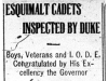 """""""Esquimalt Cadets Inspected by Duke"""""""