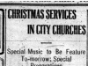 """Christmas Services in City Churches"""
