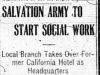 """Salvation Army To Start Social Work"""