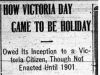 """""""How Victoria Day Came to be Holiday"""""""