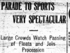 """""""Parade to Sports Very Spectacular"""""""
