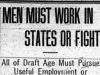 """Men Must Work in States or Fight"""