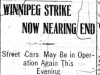 """Winnipeg Strike Now Nearing an End"""