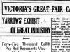 """Victoria's Great Fair Calls to All Loyal Victorians"""