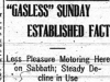 """'Gasless' Sunday Established Fact"""