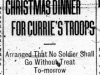 """Christmas Dinner for Currie's Troops"""