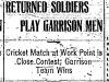 """Returned Soldiers Play Garrison Men"""