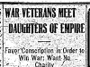 """War Veterans Meet Daughters of Empire"""
