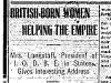"""British Born Women Helping the Empire"""